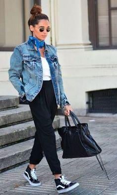 Look: Bandana,Jeans + Comfy Pants