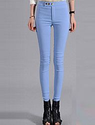 Women's Solid Blue / White / Black Skinny Pants , Sexy