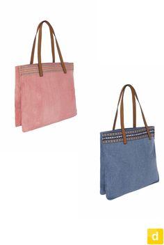 Bolso shopper étnico. #shopping #bag #blue pink