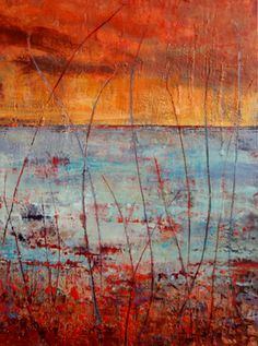 Abstract Landscape Encaustic Paintings For Sale | Buy Abstract ...