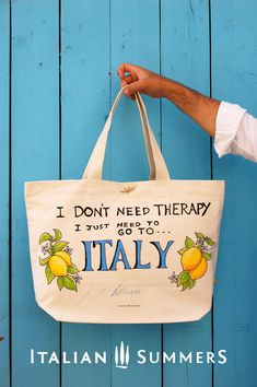 I don't need therapy I just need to go to Italy T-shirt. Our ITALIAN THERAPY t-shirt! Best Italian quote ever with happy Italian lemons Best Vacation Destinations, Italy Vacation, Best Vacations, Italy Travel, Italy Trip, Italy Italy, Cruise Italy, Napoli Italy, Italy Honeymoon