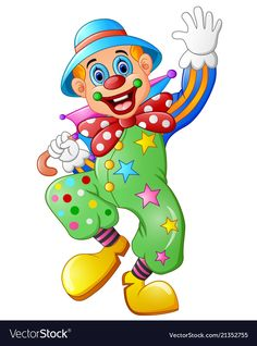 Funny clown on a white background Royalty Free Vector Image Circus Clown, Circus Theme, Circus Baby, Clown Mignon, Clown Images, Clown Crafts, Clown Party, Cute Clown, White Polar Bear