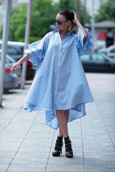 Summer Cotton Maxi Dress for Women/Mid Length Dress/Plus Size Maxi Dress/Loose Dress/Summer Dress by EUG/ Mid Length Dresses, Plus Size Maxi Dresses, Plus Size Outfits, Summer Dresses, Dressy Dresses, Summer Outfits, African Fashion Dresses, African Dress, Dress Outfits