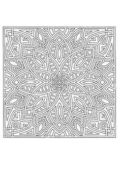 Difficult Mandala Coloring Pages | Mandala 170 - Mandalas for EXPERTS
