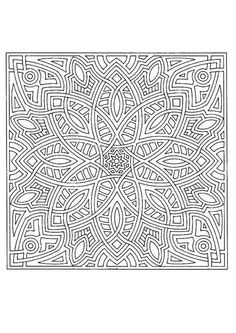 Difficult Mandala Coloring Pages | Mandala 170 - Mandalas for EXPERTS