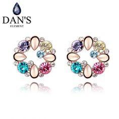 DAN'S New Fashion Sale Hot  Dropship Austrian crystal Flower earrings for women Valetion's Gift #QS4435 #Affiliate