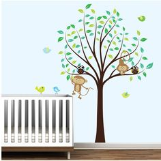 Love this...monkeys AND a pretty tree!