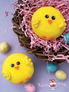 Chick Cupcakes- so, so cute and super easy too!