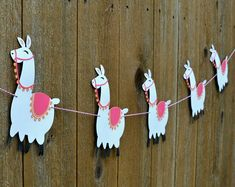 Llama Banner choose your colors Alpaca Mexico Peru Llama Birthday, Baby Birthday, First Birthday Parties, First Birthdays, Party Photo Frame, Fun Crafts, Crafts For Kids, Party Time, Baby Shower