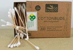 Go Bamboo Cotton Buds is a biodegradable alternative to the regular plastic cotton buds. These are made from sustainable bamboo and 100% organic cotton.