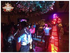 LED stilt robot provided by J&D Entertainment of Houston, Texas www.jdentertain.com