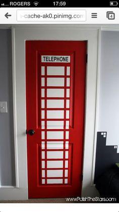 Telephone door