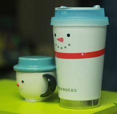 Korea Starbucks Christmas Snowman Demi Mug 89ml SS Elma Snowmans Tumbler 355ml #Starbucks
