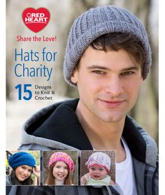 FREE Hats for Charity Ebook by @redheartyarns