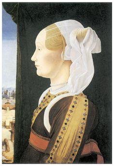 portrait of Ginevra Sforza Bentivoglio 1440 – 1507