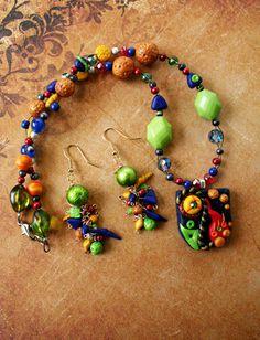 Jewelry Set Polymer Clay Jewelry Womens Jewelry by TheCrystalTree, $35.00