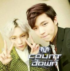 Voting for Key and Woohyun is currently taken place on Mcountdown via Mnet:)