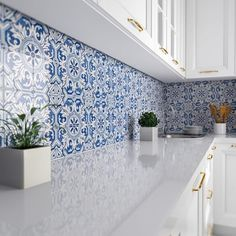 Camelias Glazed Ceramic Tiles - Country Floors of America LLC. Camelias Glazed Ceramic Tiles – Country Floors of America LLC. Ceramic Tile Backsplash, Glazed Ceramic Tile, Glazed Tiles, Moroccan Tile Backsplash, Blue Backsplash, Cement Tiles, Backsplash Ideas, Ceramic Bowls, Mosaic Tiles