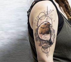 Bird tattoo by Koit Tattoo
