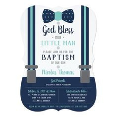 Shop Little Man Baptism Invitation, Navy, Turquoise Invitation created by DeReimerDeSign. Baptism Invitation For Boys, Christening Invitations Boy, Baby Boy Baptism, Boy Christening, Custom Invitations, Party Invitations, Mustache Invitations, Baptism Cards, Boy Decor