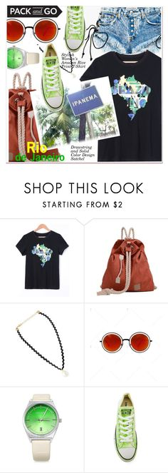 """""""Pack and Go: Rio"""" by paculi ❤ liked on Polyvore featuring IPANEMA, Converse and rio"""