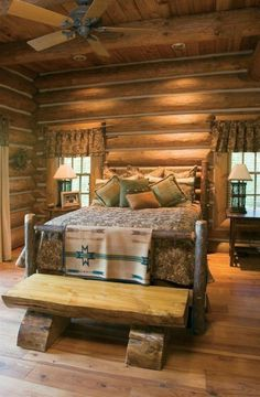 wohnideen schlafzimmer landhausstil schlafzimmerbank holz