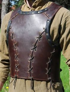 Beaten Leather Armour Thick leather armour flexible and dasyat to move