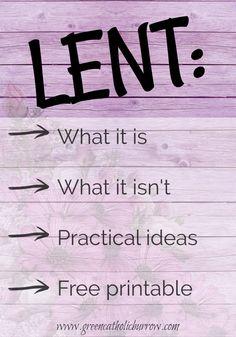 Lenten sacrifice ideas
