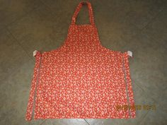 Sunshine Floral {Orange} Cotton (white backing-no pockets) - Adult Sized Apron * by ShawnasSpecialties on Etsy