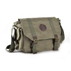 Men's weekday canvas messenger bag, mens canvas shoulder bag - BagsEarth