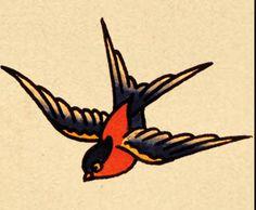 next tattoo: Sailor Jerry nautical swallow bird
