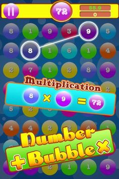 "This app was so much fun and a hit with my students. It's great practice for their multiplication skills and a bit addicting to play. :) My only complaint is that the add on the bottom of the screen makes  it impossible to see the numbers on the last row of bubbles.  If you only have one ipad available to use with your students,you could have a ""Bubble"" tournament.  I had students work in partners and then we recorded the top scores.  Great practice!"
