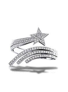 Comète Armband aus 18 Karat Weißgold und Diamanten.