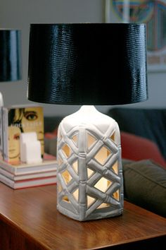 The bamboo gives this lamp a French Caribbean seaside feel. And the black and white are so French.