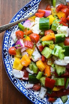 Israeli Chopped Salad is a nice change from leafy green salads and it's perfect for picnics and barbecues because it stays fresh and…