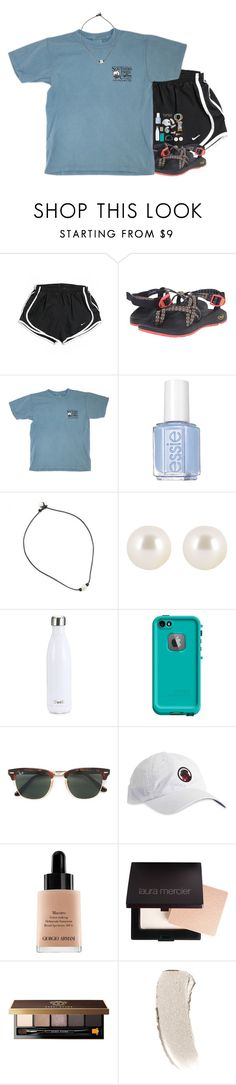 """Really want my chacos!!! RTD"" by kat-attack ❤ liked on Polyvore featuring NIKE, Chaco, Essie, Henri Bendel, S'well, LifeProof, Pura Vida, Ray-Ban, Southern Proper and Giorgio Armani"