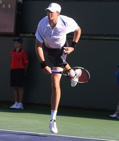 """John Isner has one of the biggest first serves ever, and an unfailingly pure motion. Isner's delivery is devastatingly potent and almost impossible to read."" Steve Flink on rating the John Isner serve No. 5 all time in his book THE GREATEST TENNIS MATCHES OF ALL TIME available here: http://www.amazon.com/The-Greatest-Tennis-Matches-Time/dp/0942257936/ref=sr_1_1?ie=UTF8&qid=1364920342&sr=8-1&keywords=Greatest+tennis+matches+of+all+time"