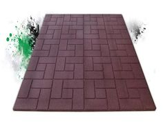 Eco-Flex® Eco-Walk™ rubber sidewalks are made of 100% recycled content (scrap tires)