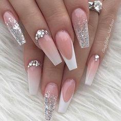nails like designer gel nails. nails like designer gel nails. nails like designer gel nails. Elegant woman nail color to d Cute Nails, Pretty Nails, My Nails, Shellac Nails, Gel Manicure, Best Acrylic Nails, Acrylic Nail Designs, Silver Acrylic Nails, Wedding Acrylic Nails
