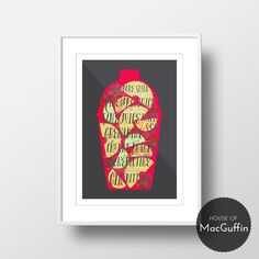 Fancy something fruity and refreshing in your kitchen? Then get this Singapore Sling cocktail print! Available to buy at houseofmacguffin.etsy.com