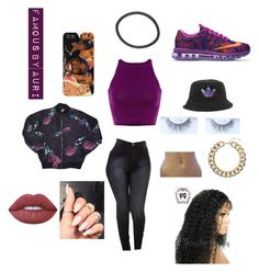 """"""""""" by xoauri1 ❤ liked on Polyvore featuring NIKE, adidas, Topshop and Lime Crime"""