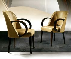 ART DECO ARMCHAIRS WITH LEATHER ART HOLLY - TAYLOR LLORENTE FURNITURE (=)