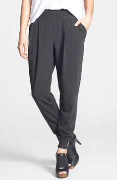 Eileen Fisher Charcoal Pleated Slouchy Ankle Pants Size XS for sale online Ankle Pants, Ethical Fashion, Eileen Fisher, Spring Summer Fashion, Work Wear, Mini Skirts, Nordstrom, Fashion Outfits, Women's Fashion