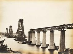 Amazing Pictures of the Forth Rail Bridge Being Built.