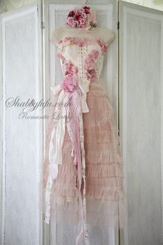 Shabbyfufu Originals HANGING Lady Pink Dress Form Mannequin