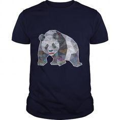 Cool Panda Triangle Low Polygon Style Shirts & Tees