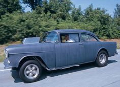 """Two Lane Blacktop"" 1955 Chevy 210...This is the same car Harrison Ford drove in ""American Graffiti"""