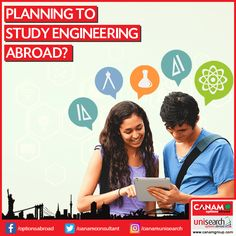 Going abroad for engineering study is gaining momentum as #OverseasEducation offer comprehensive approach to engineering while giving access to the latest innovations and research facilities. If you are also interested in Engineering #StudyAbroad programs, meet expert counsellors of #CanamConsultants for all kind of guidance and #StudentVisa support.