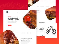 Cycle Mania : Landing Page Design Concept by Arafat Ahmed Chowdhury