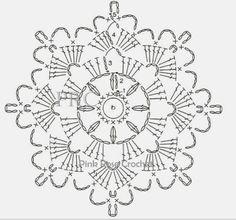 X Centrinhos Delta Porta-Copos Mini Mats Crochet Snowflake Pattern, Crochet Motif Patterns, Crochet Stars, Crochet Circles, Crochet Snowflakes, Crochet Diagram, Crochet Doilies, Crochet Flowers, Crochet Home
